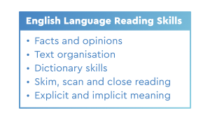 english language reading skills